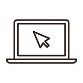 istock Touch screen and cursor icon 1227015515