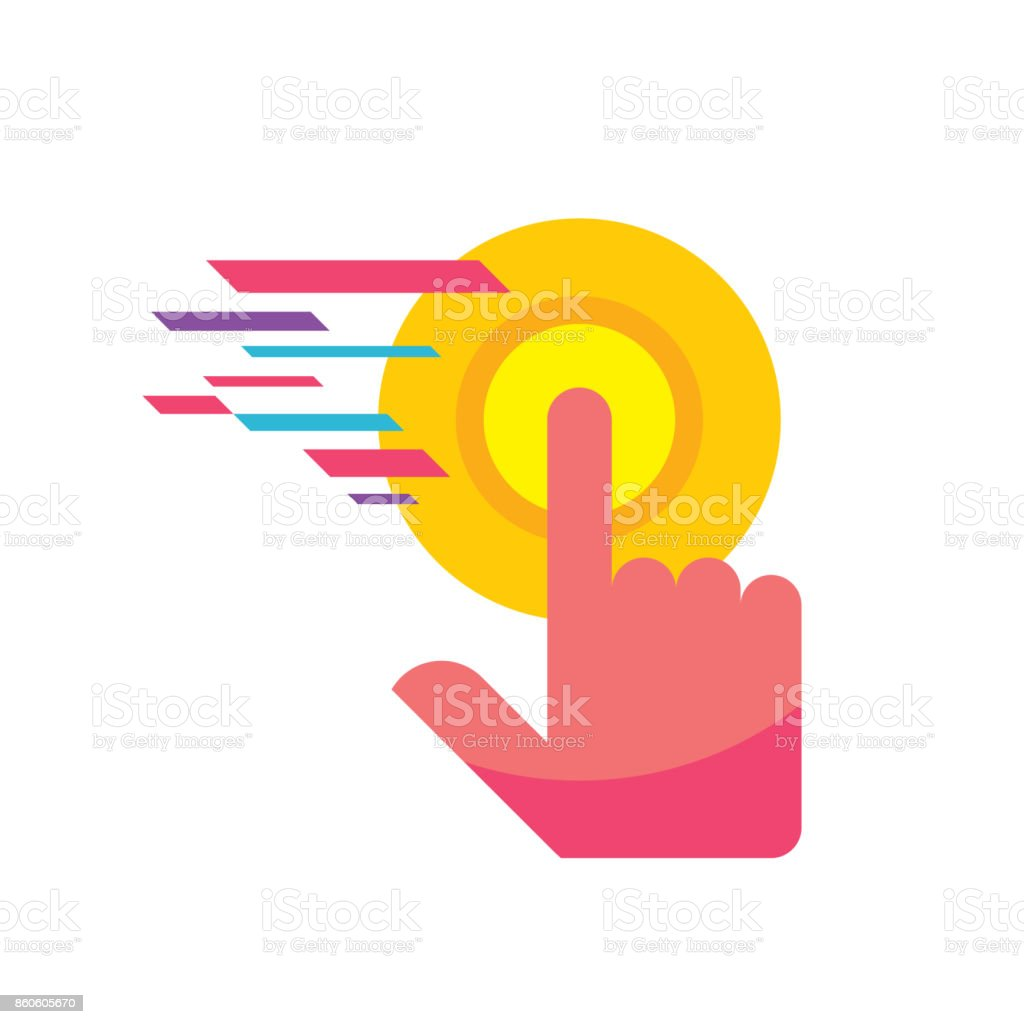Touch Screen Finger Vector Sign Template Concept Illustration Human ...