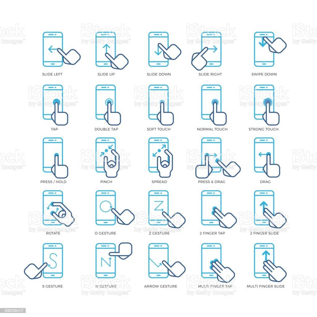Pantalla Táctil Gestos Con Las Manos De Los Teléfonos Inteligentes ...