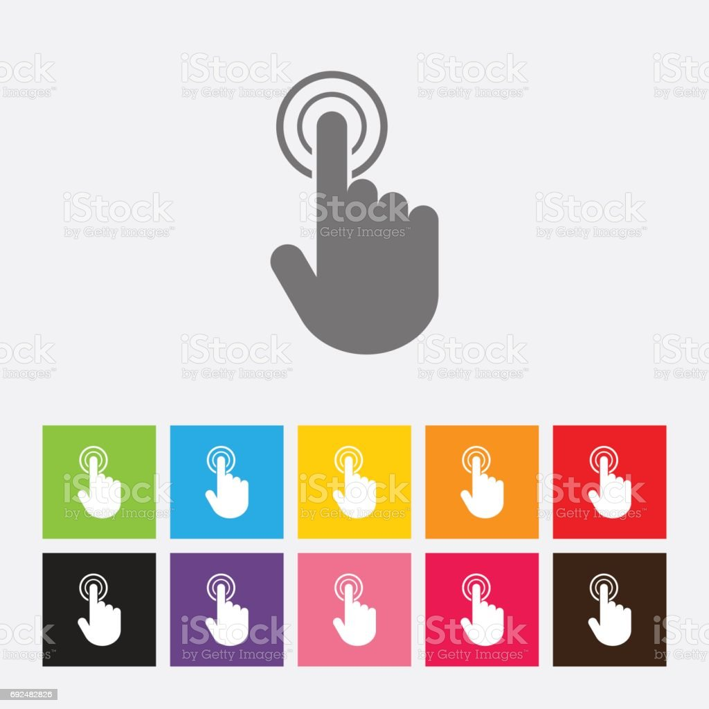 Touch screen icon vector art illustration