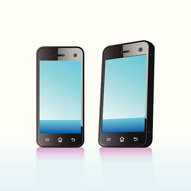 Touch Screen Phone vector art illustration