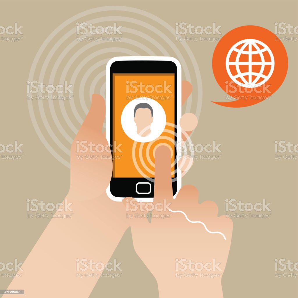 Touch Screen Smart Phone royalty-free stock vector art