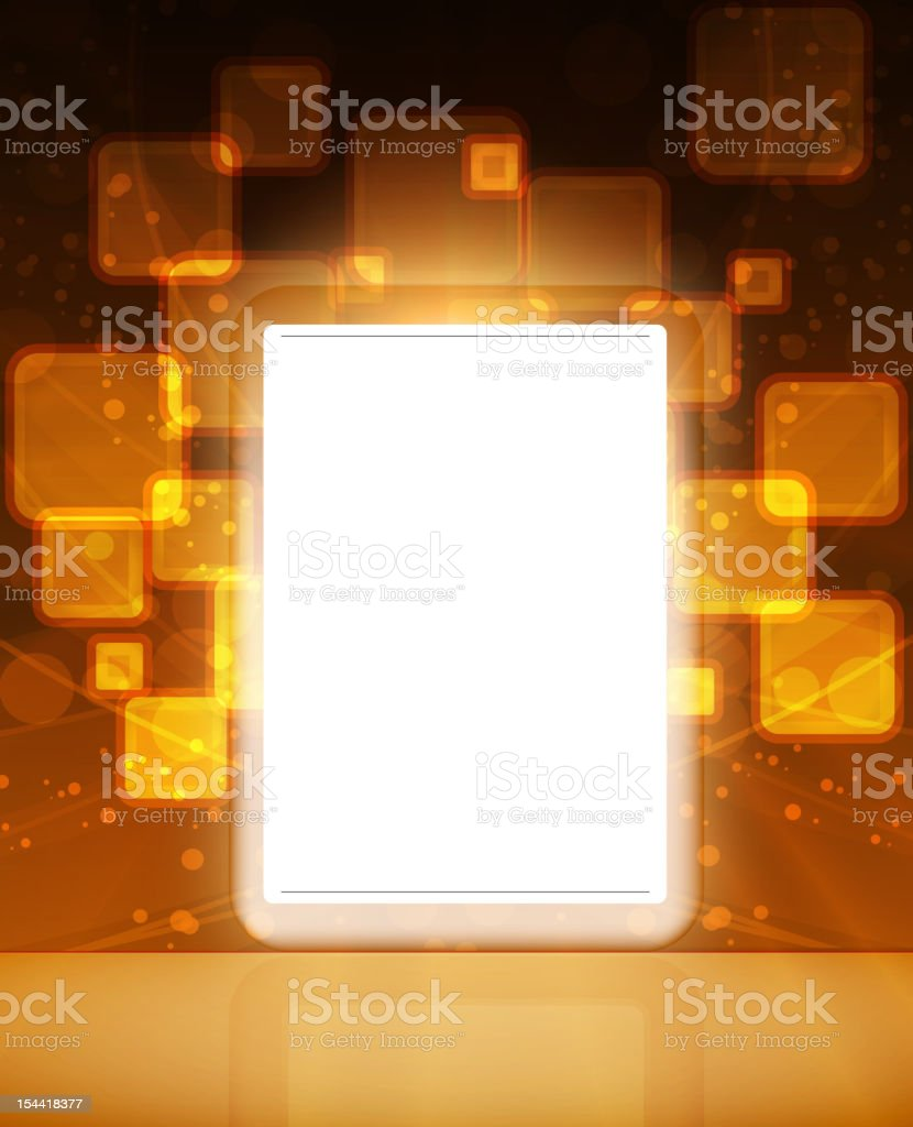 LCD Touch Screen Tablet royalty-free stock vector art