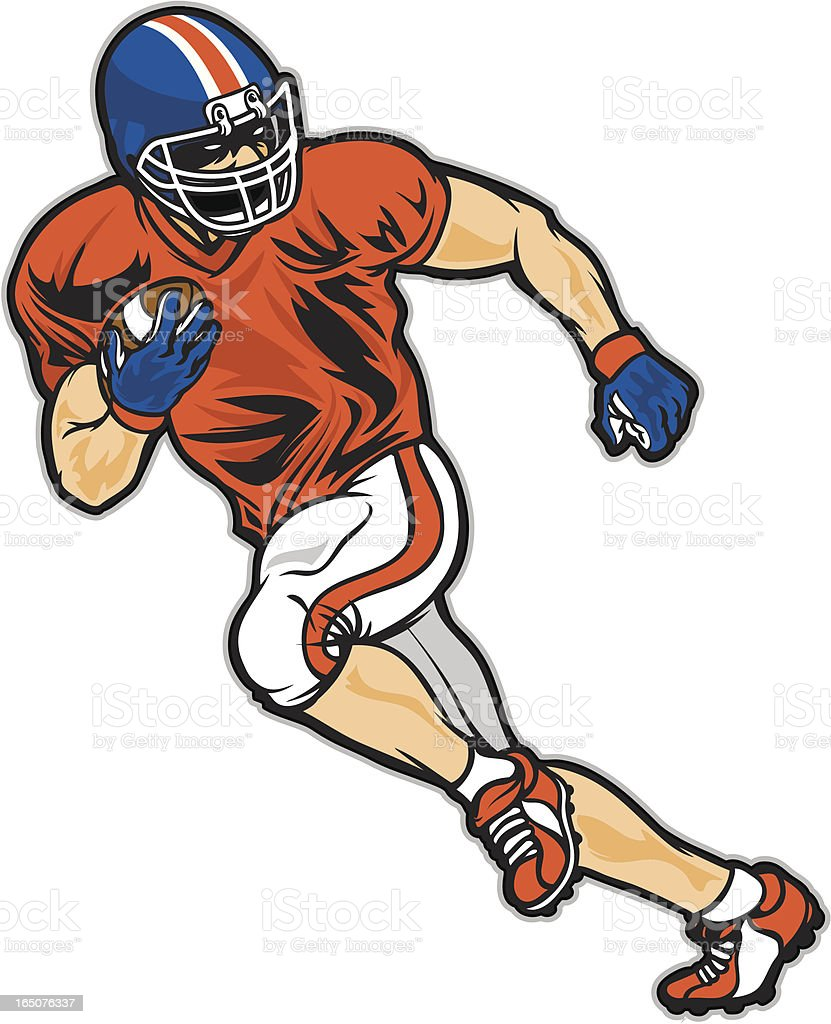 Touchdown Run royalty-free touchdown run stock vector art & more images of american football - ball