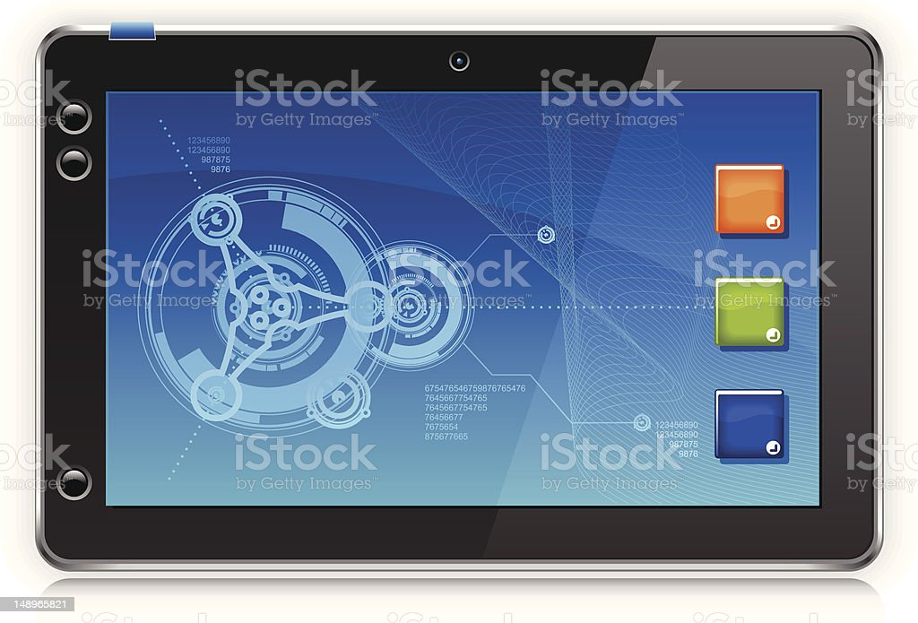 Touchpad Computer or Tablet PC vector art illustration
