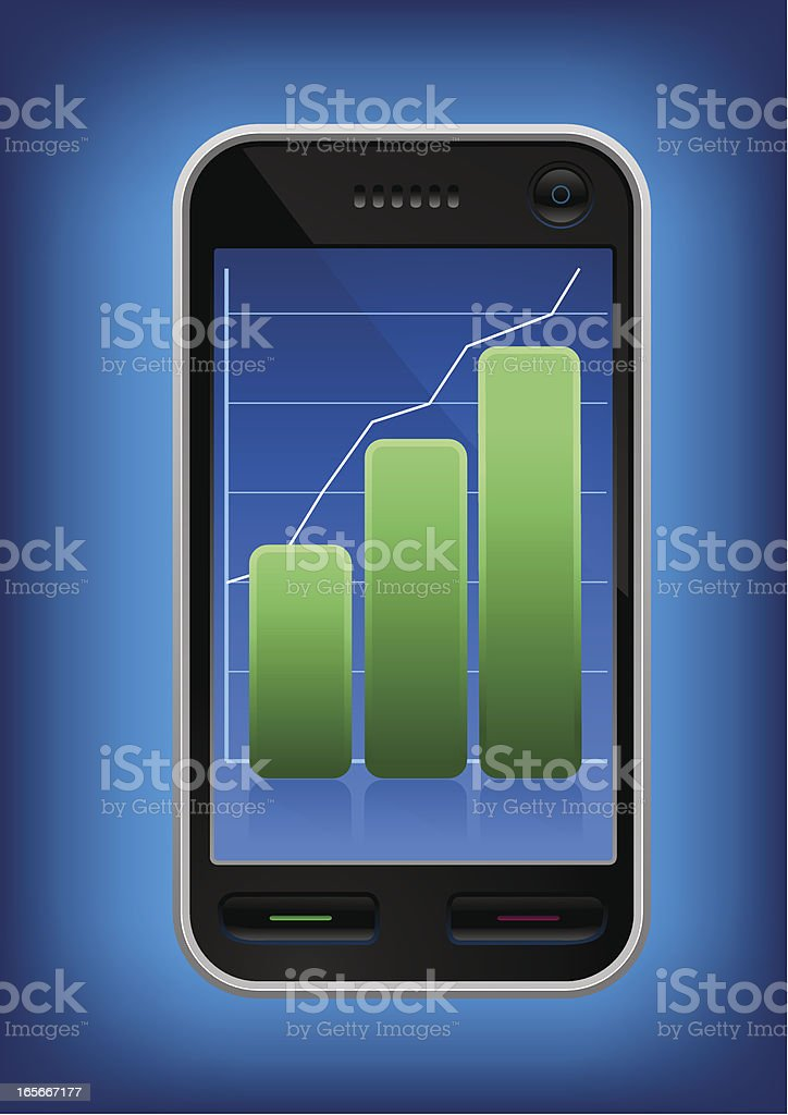 Touchscreen business phone royalty-free stock vector art