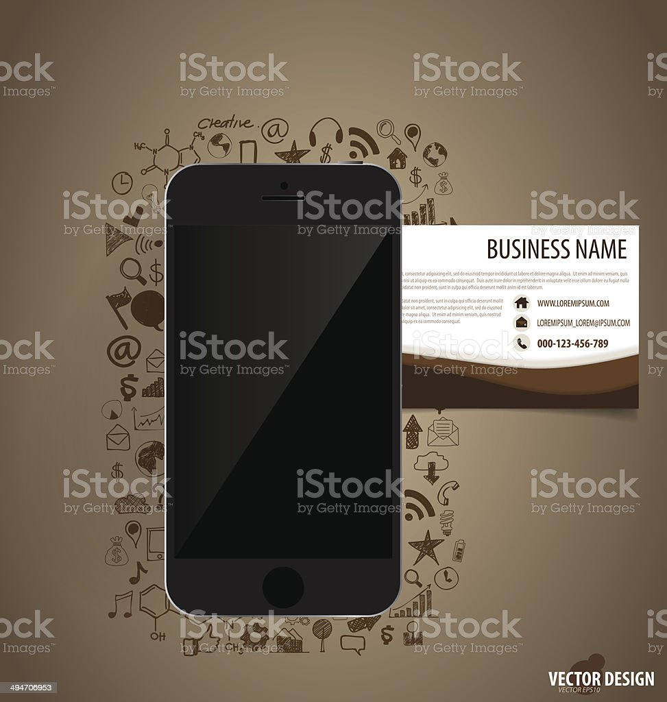 Smart Phone Telephone Abstract Backdrop