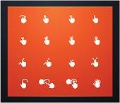 Touchscreen gestures glyphs
