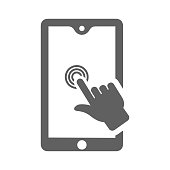 Touchscreen Technology Icon. Perfect use for print media, web, stock images, commercial use or any kind of design project.