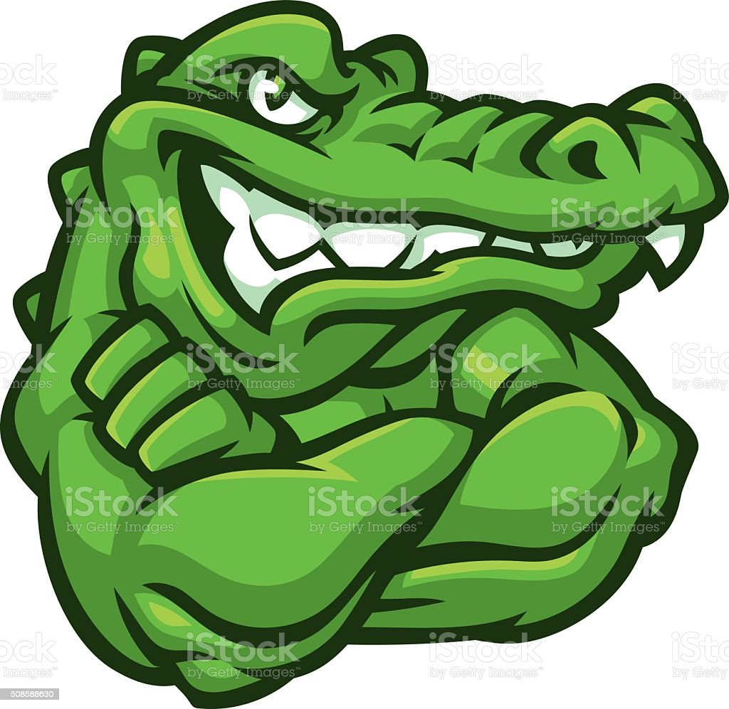 Tough Gator vector art illustration