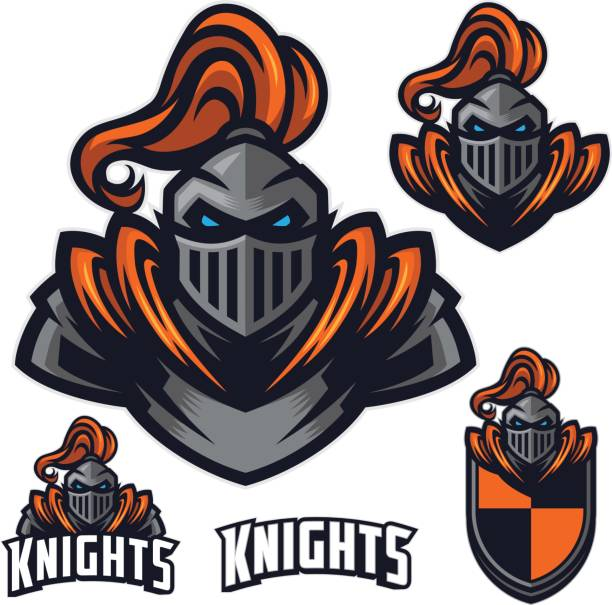 tough knight sport pack - knight in shining armor stock illustrations, clip art, cartoons, & icons