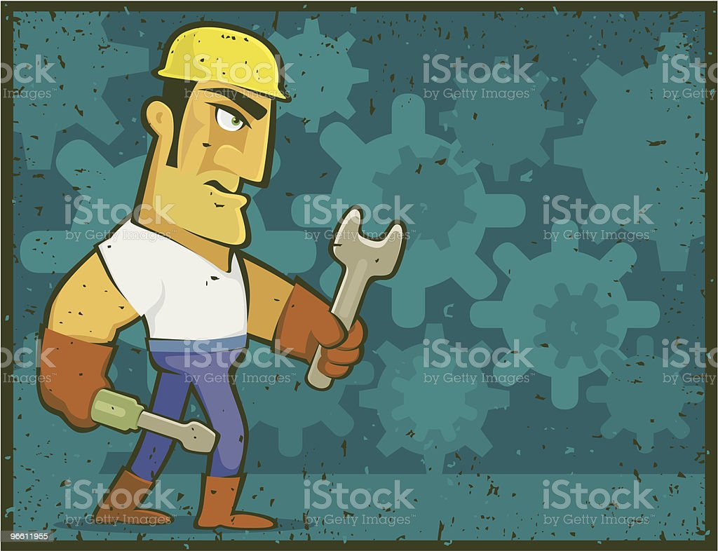 tough worker - Royalty-free Adult stock vector