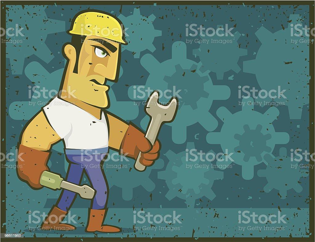 tough worker - Royaltyfri ClipArt vektorgrafik