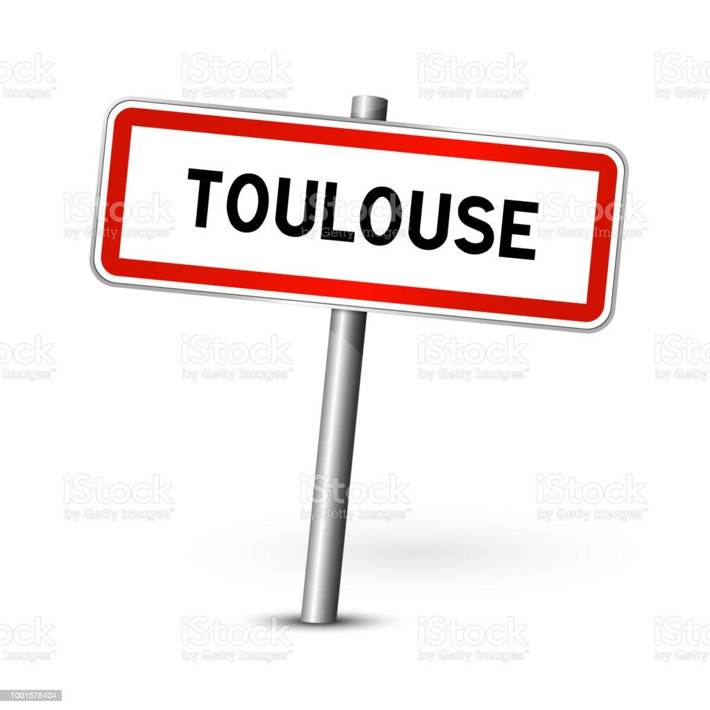 Toulouse Frankreich Schild - Stadt Straßenschild - Beschilderung board – Vektorgrafik
