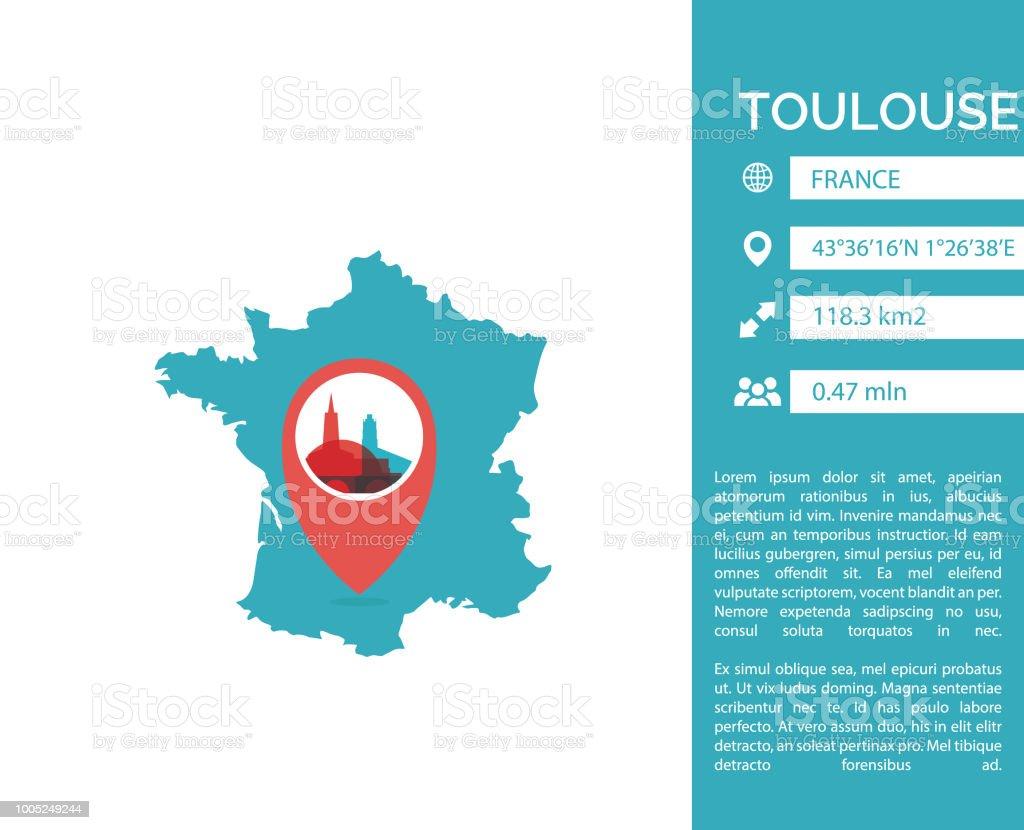 Toulouse Karte.Toulouse Karte Infografik Vektorillustration Isoliert Stock Vektor Art Und Mehr Bilder Von Abstrakt