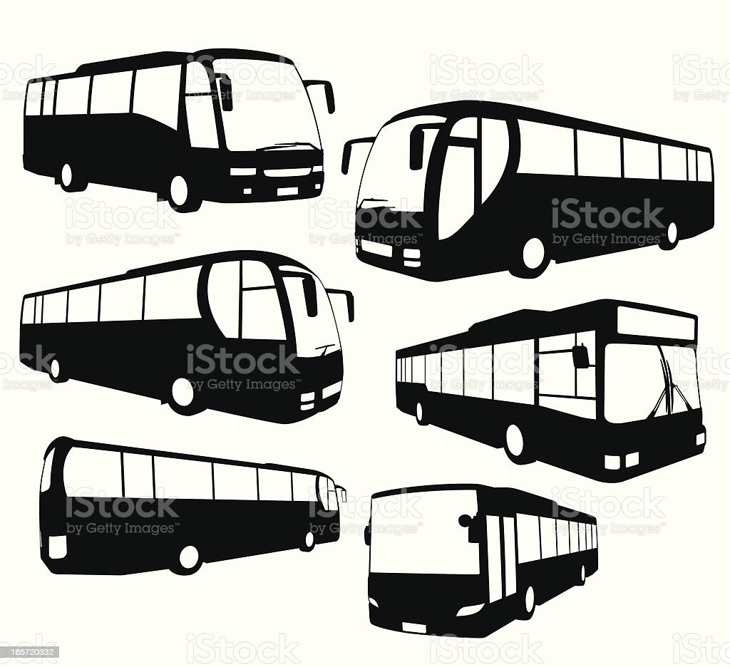 Tour Bus collection vector art illustration