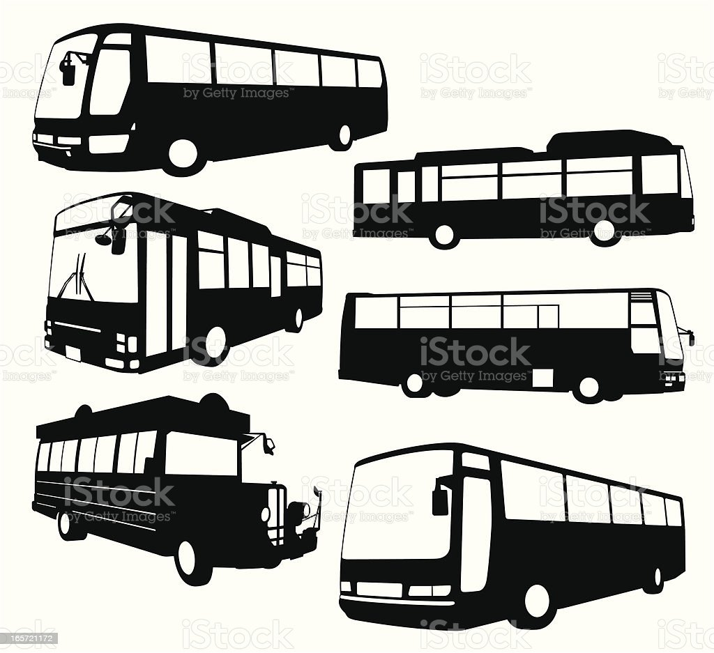 Tour Bus Collection royalty-free tour bus collection stock vector art & more images of black and white