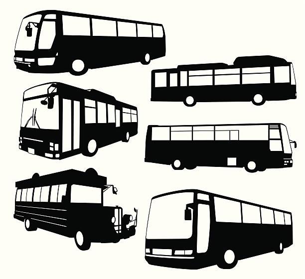 ツアーバスコレクション - バス点のイラスト素材/クリップアート素材/マンガ素材/アイコン素材