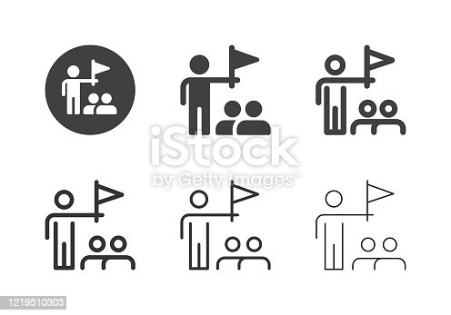 Tour Guide Icons Multi Series Vector EPS File.
