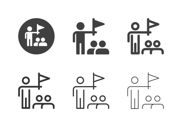 Tour Guide Icons - Multi Series vector art illustration