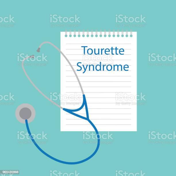 Vetores de Síndrome De Tourette Escrito No Caderno e mais imagens de Azul