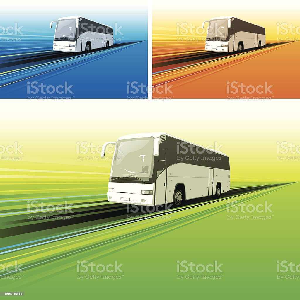 Touring bus background vector art illustration