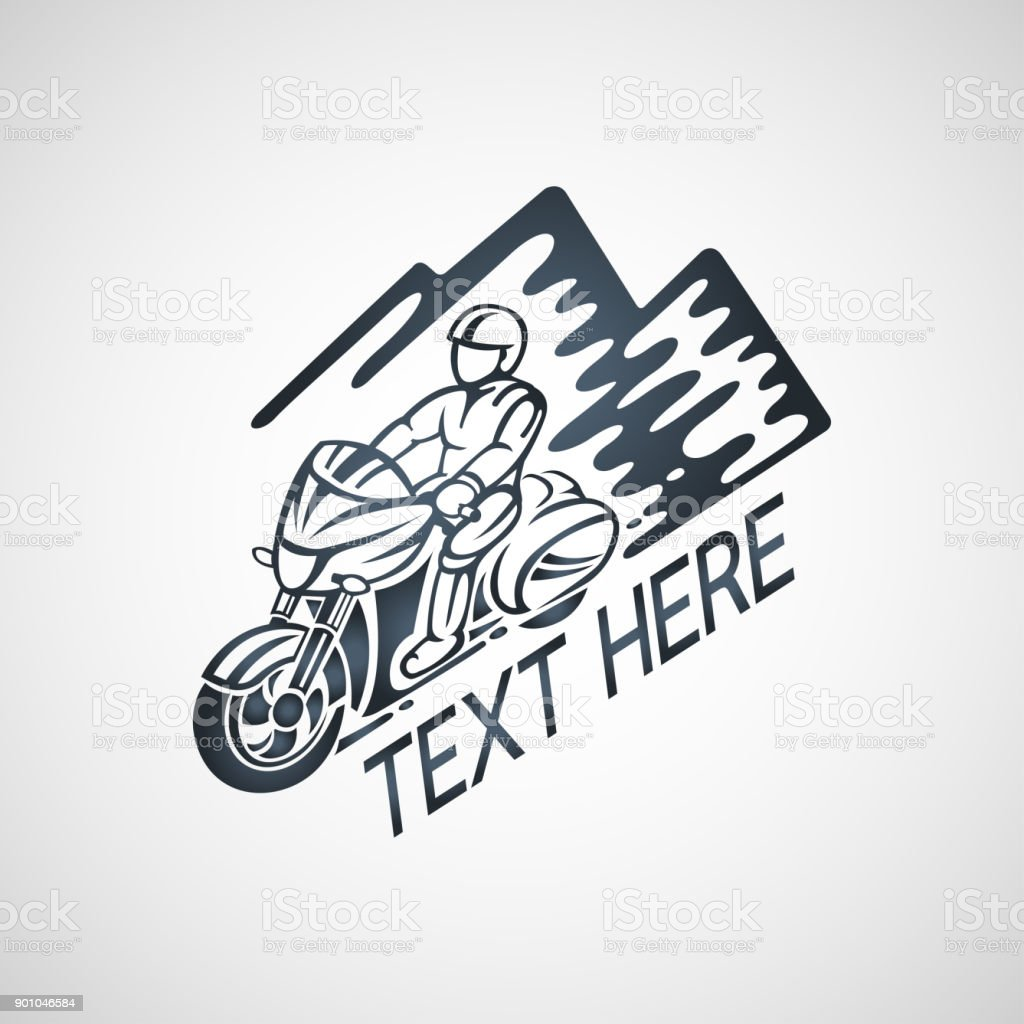 Touring Motorcycle Club Vector Icon Illustration Stock Illustration