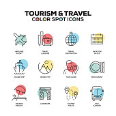 Tourism and Travel icons. Vector line icons set. Premium quality. Modern outline symbols and pictograms.