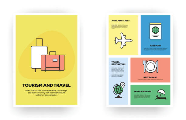 tourism and travel related infographic - save the date calendar stock illustrations, clip art, cartoons, & icons