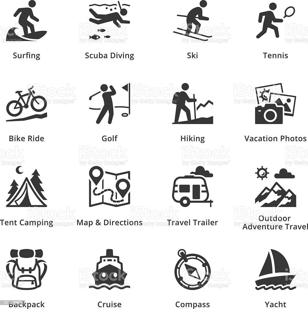 Tourism & Travel Icons - Set 4 vector art illustration