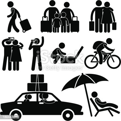 istock Tourist and Vacation Trip Pictogram 150443619