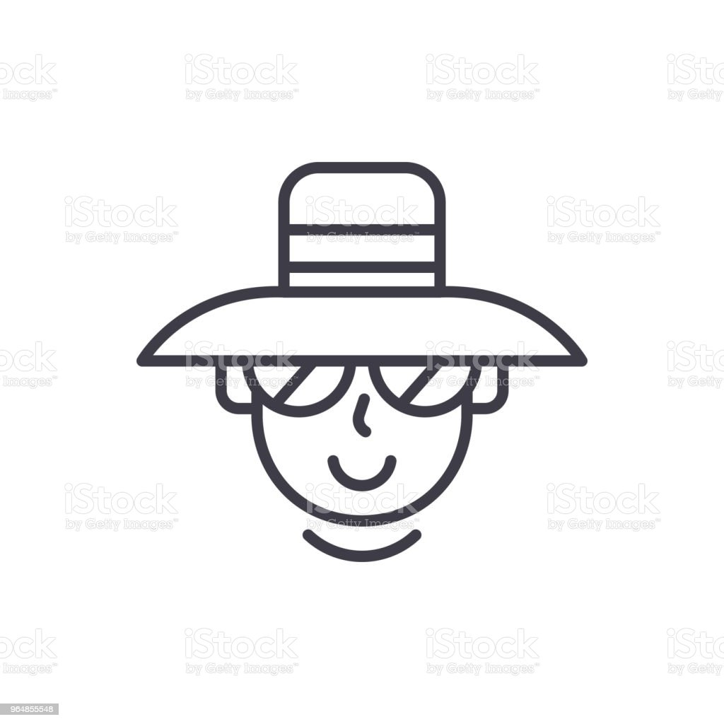 Tourist black icon concept. Tourist flat  vector symbol, sign, illustration. royalty-free tourist black icon concept tourist flat vector symbol sign illustration stock vector art & more images of adventure