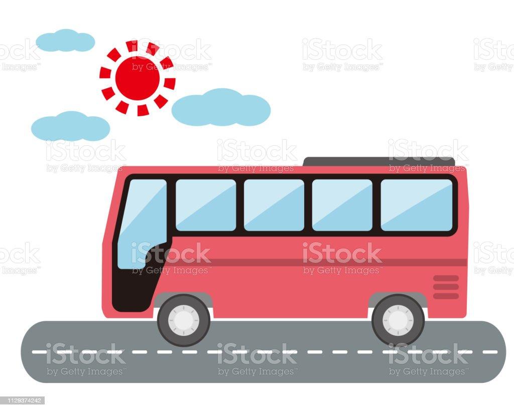 Tourist Bus Express Bus Night Bus Stock Illustration