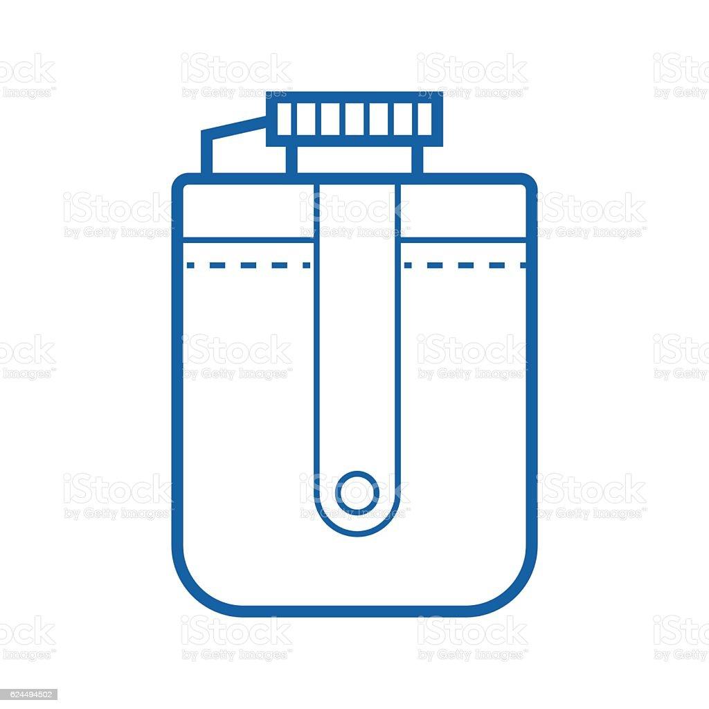 Tourist Flask Vector Icon vector art illustration