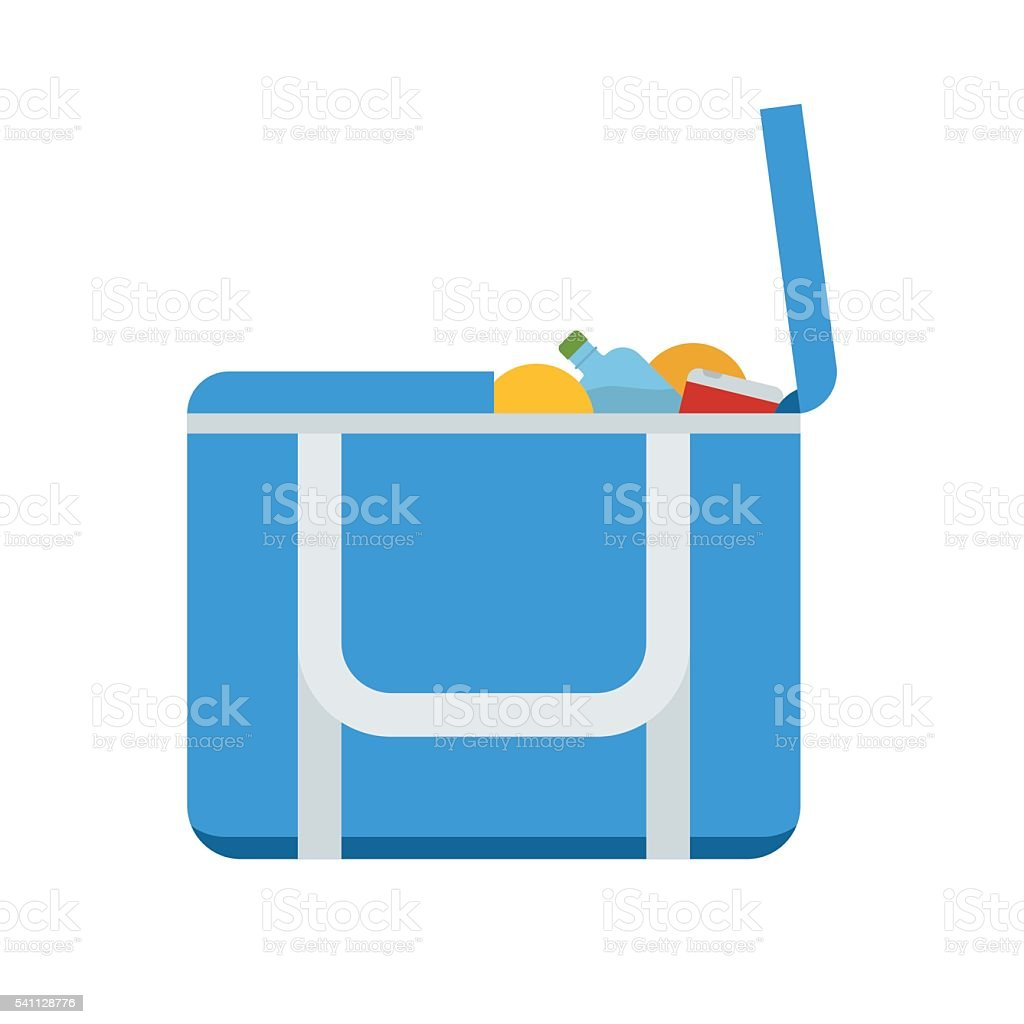 Tourist Freezer Bag or Lunch Box Vector Icon vector art illustration