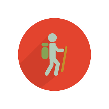tourist icon on a white background, vector illustration