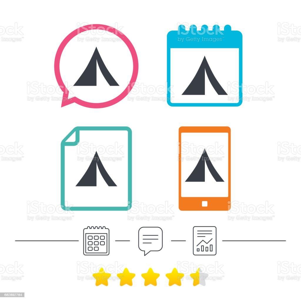 Tourist Zelt-Symbol. Camping-symbol. Lizenzfreies tourist zeltsymbol campingsymbol stock vektor art und mehr bilder von abenteuer
