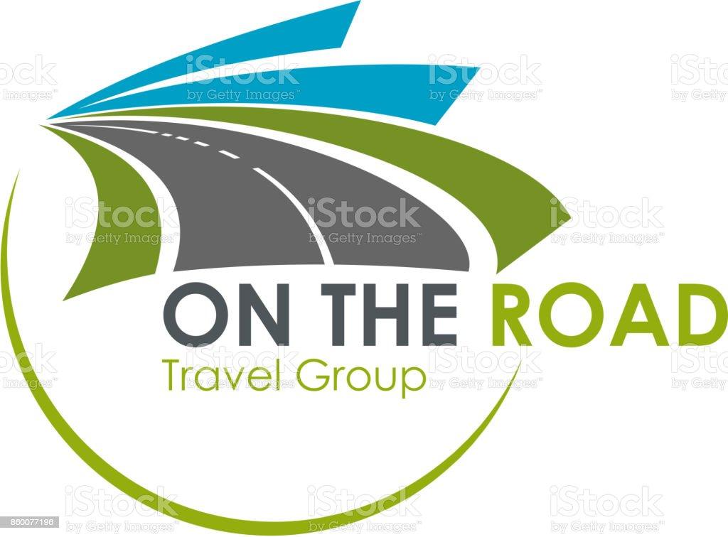 Icono de vector de turismo Agencia de viajes carretera viaje - ilustración de arte vectorial