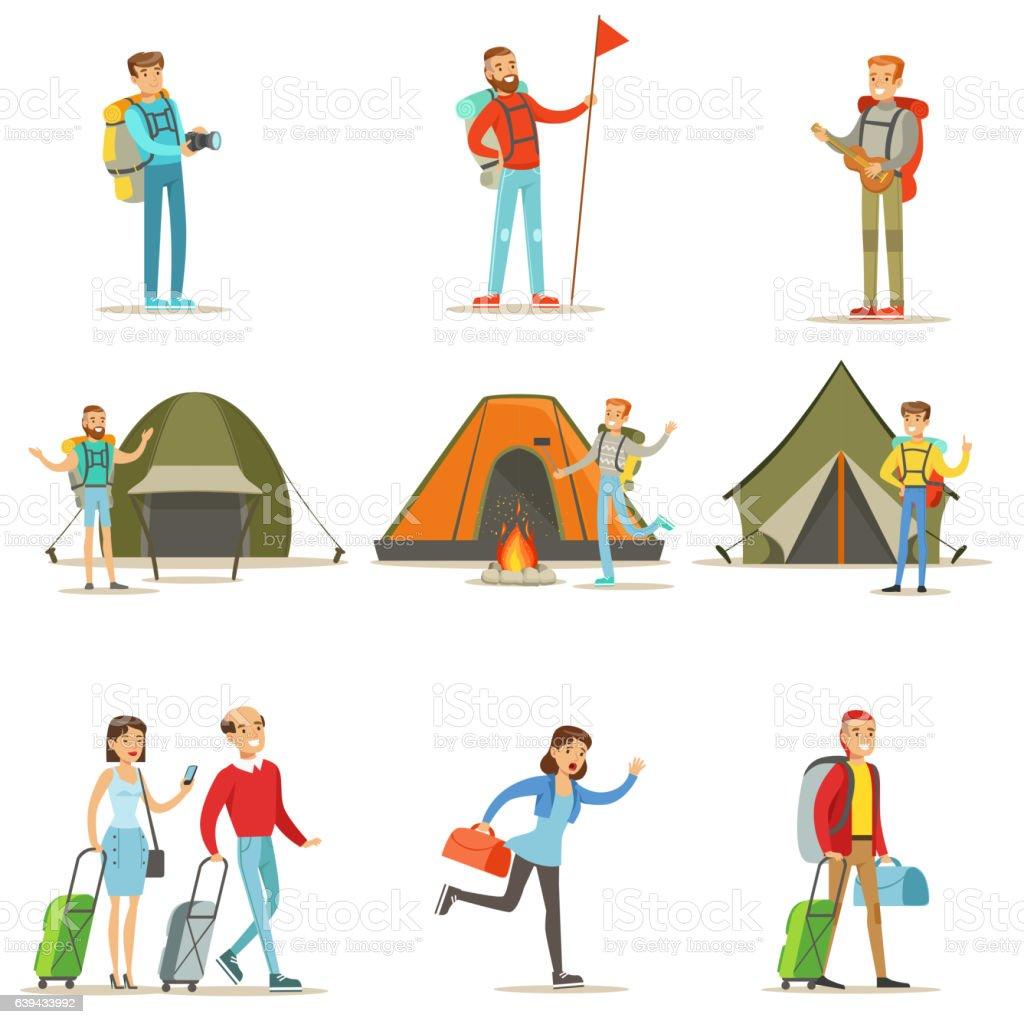 Tourist vector art illustration