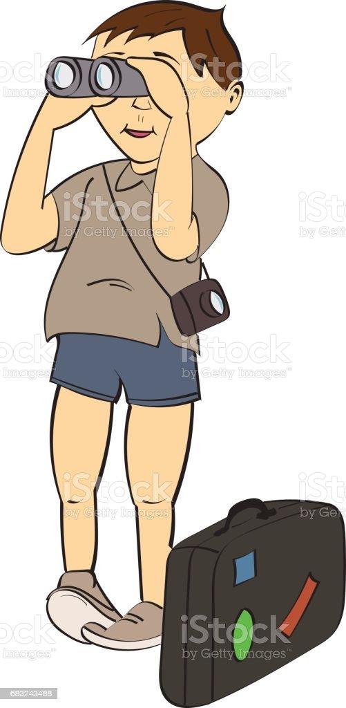 tourist 免版稅 tourist 向量插圖及更多 人 圖片