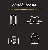 Tourist's equipment icons