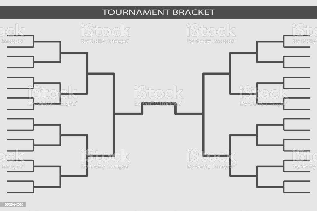 Tournament bracket vector. Championship template. vector art illustration