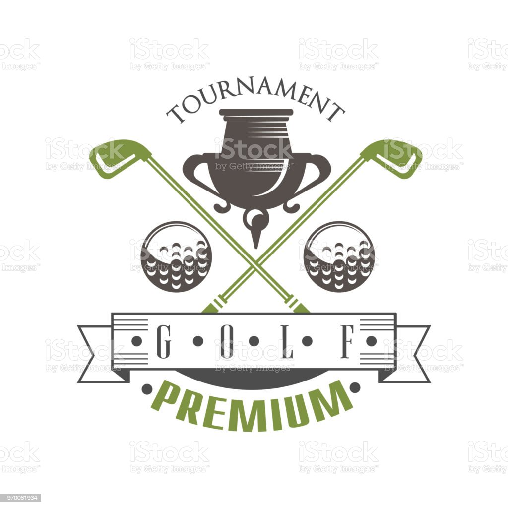 Tournament Golf Premium Elegant Vintage Sport Label For Golf ...