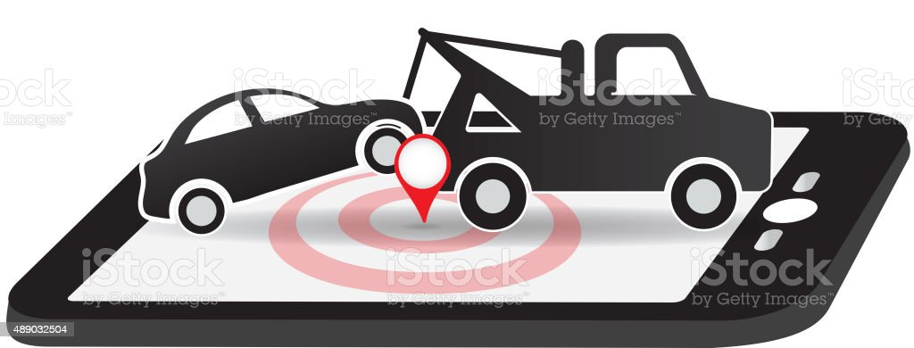 Tow And Roadside Assistance App Icon Design Stock Vector Art More