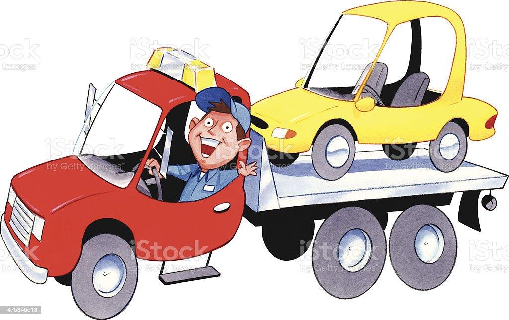 Tow Truck Car HC vector art illustration