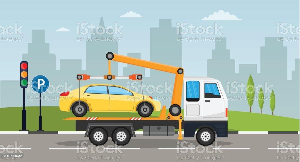 Remolque Carro Carretera Asistencia Servicio Evacuador Online Coche ...