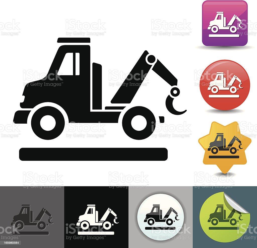 Tow truck icon   solicosi series vector art illustration