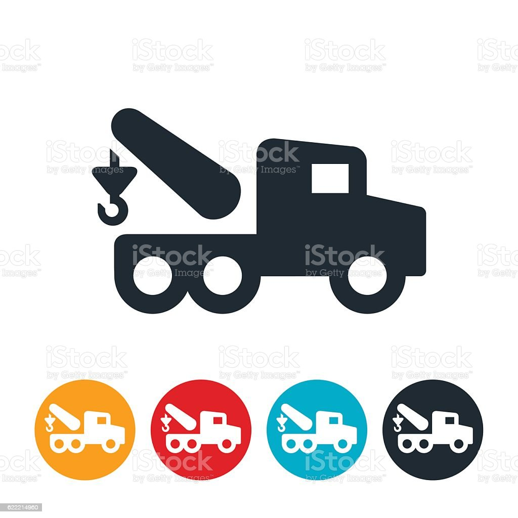 Tow Truck Icon Stock Vector Art More Images Of Icon 622214960 Istock