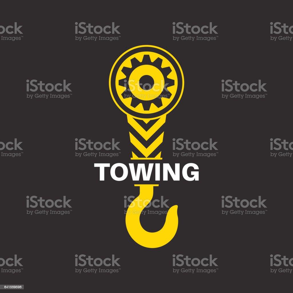 Tow truck icon vector art illustration