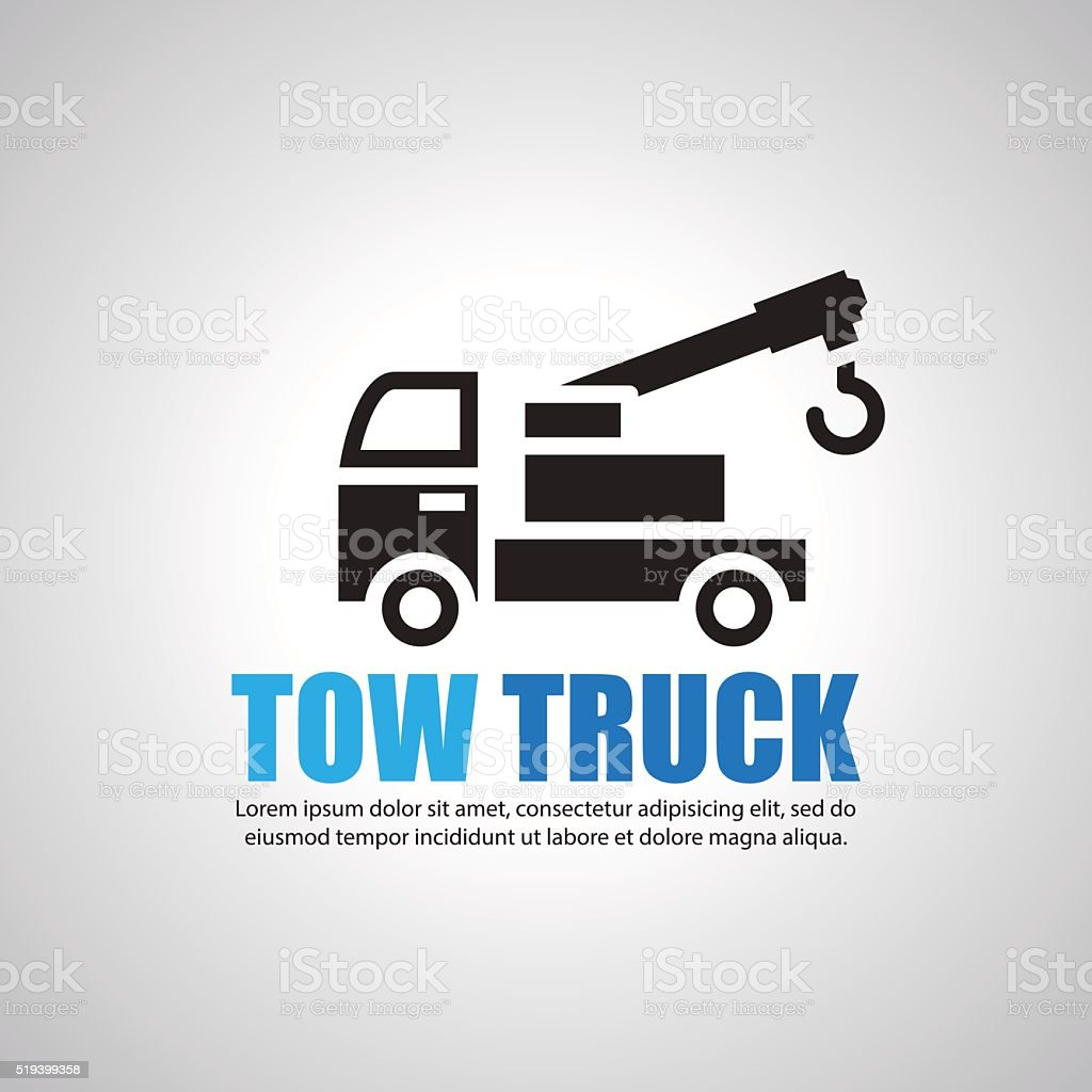 tow truck, Symbol vector art illustration
